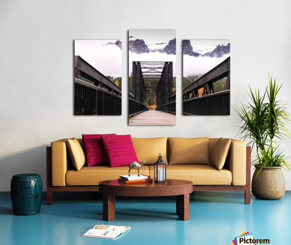 The Engine Bridge Canmore in Fall Canvas print