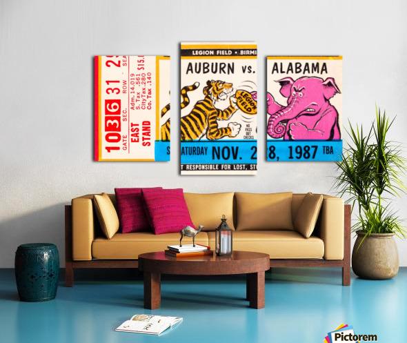 1987 Alabama vs. Auburn  Canvas print
