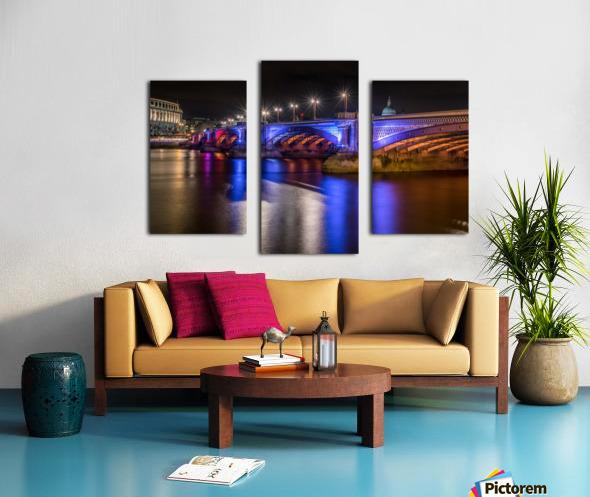 London Bridge at night Canvas print