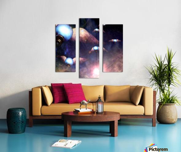 Winged Light Bulbs Canvas print