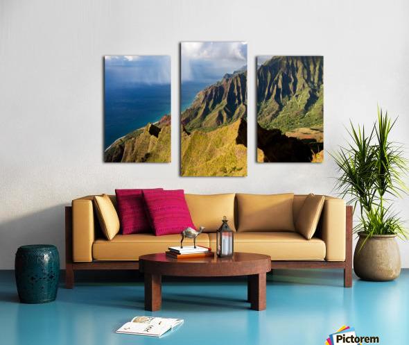 The Cliff Sides of Kauai Canvas print