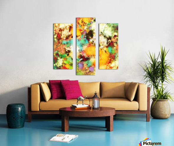 A distorted impact Canvas print