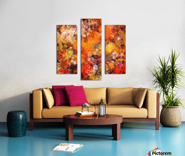 A jumping orange horse Canvas print