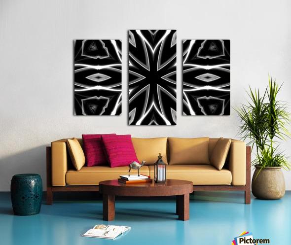 Monochrome Graffiti Canvas print