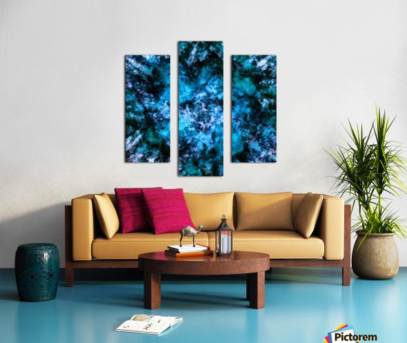 Blue burst Canvas print