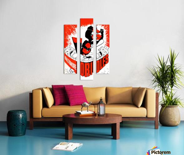 hal decker artist baltimore orioles poster Impression sur toile