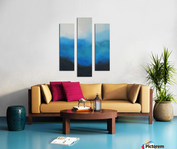Tranquility Blue II. Canvas print