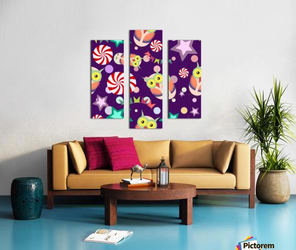 owl pattern background Canvas print
