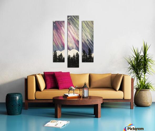 Aurora Borealis Above The Forest Canvas print