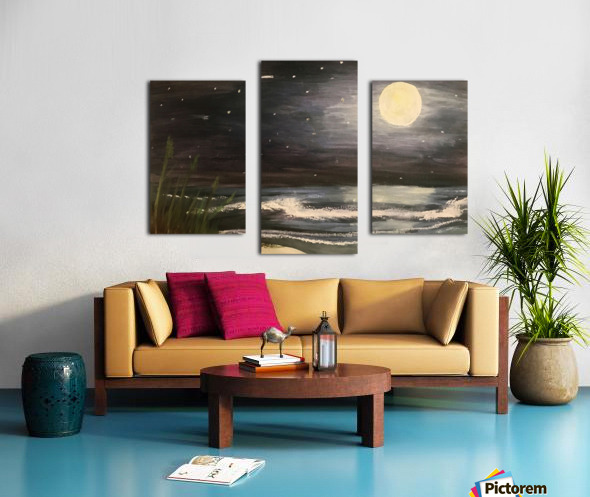 Moonlit Seascape Canvas print