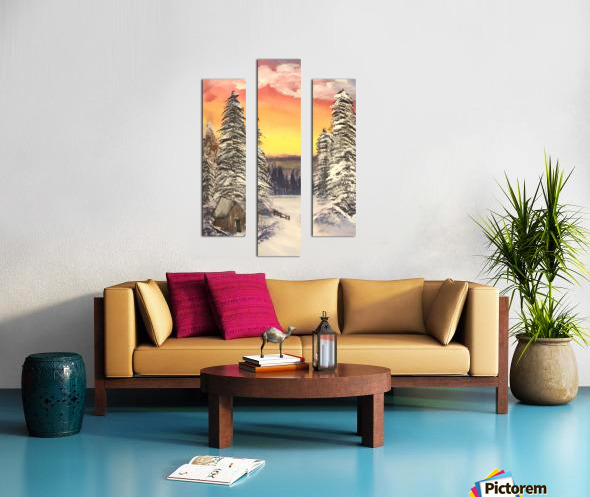 Snow At Sunset Canvas print