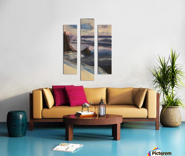 Watercolor Beachscape Canvas print