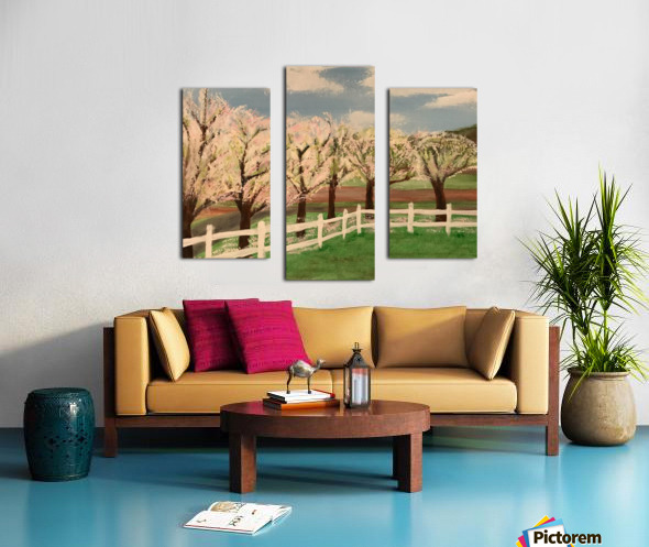 Trees In Bloom Canvas print