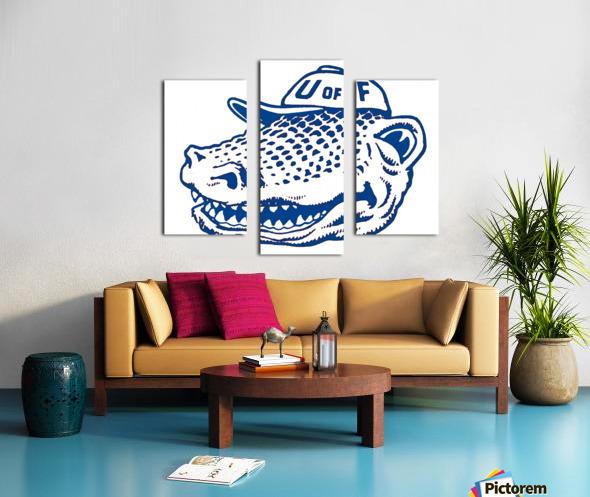 vintage florida gators wall art blue Canvas print