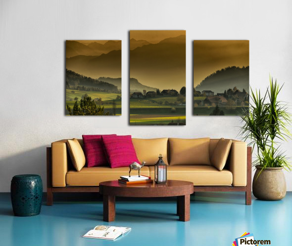 landscape autumn twilight mountains_1588527933.2293 Canvas print