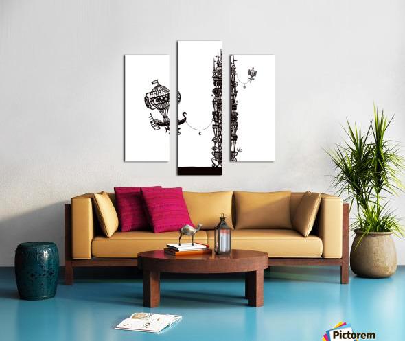 Torre dell orologio Canvas print