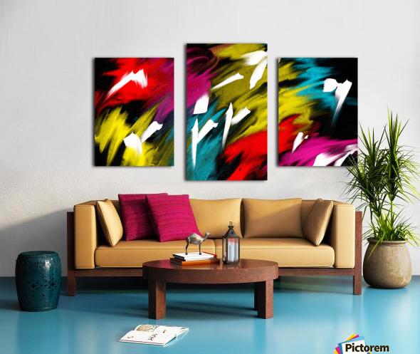 Neon Smoke Canvas print