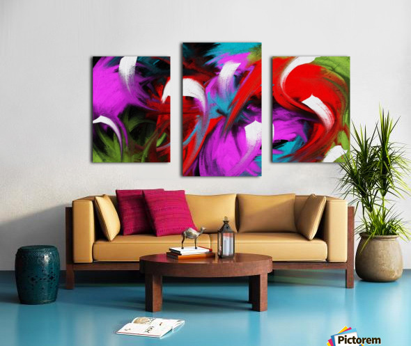 Neon Waves Canvas print