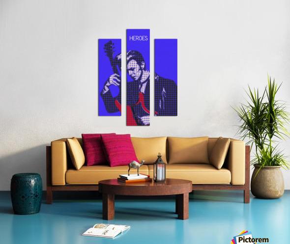 Heroes   David Bowie Canvas print