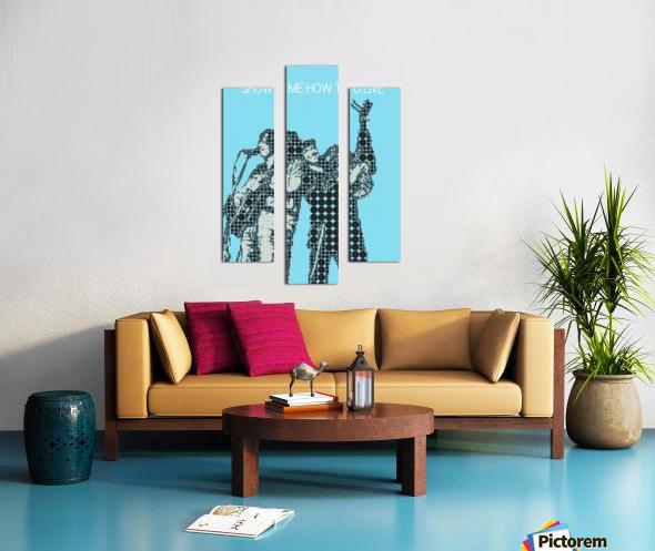 Show Me How to Live   Chris Cornell and Tom Morello Canvas print