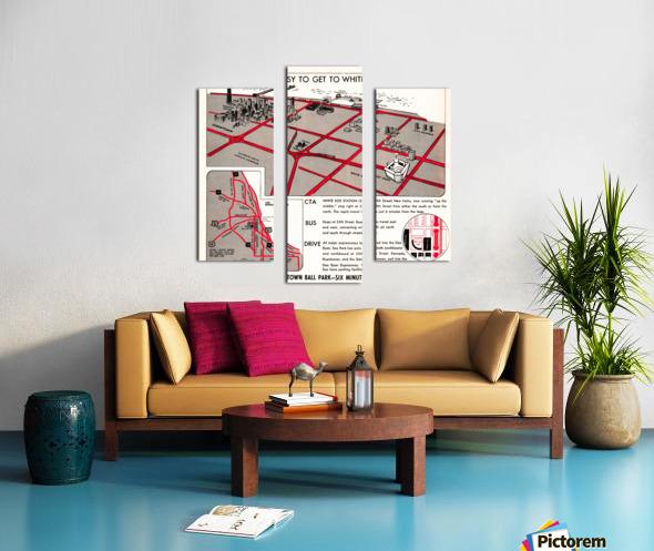 chicago map Canvas print