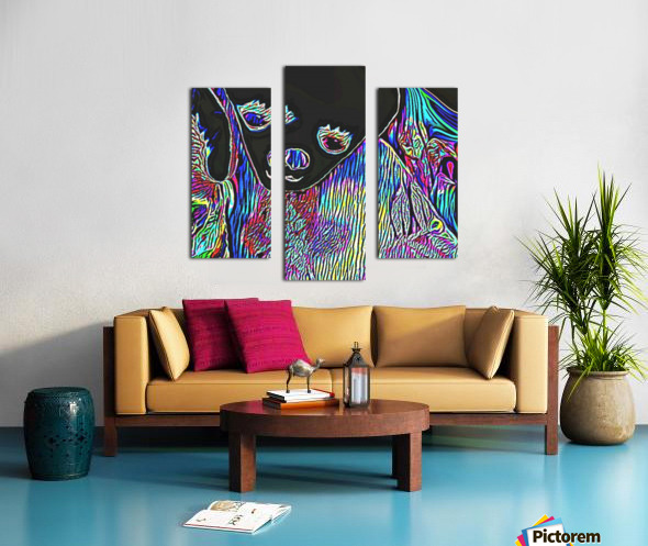 Neon Dreams Canvas print