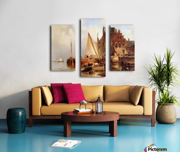 Hove van H - The ferry - Sun Canvas print