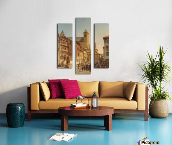 Belgian Continental Market Canvas print