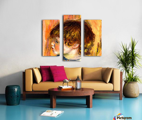 Head of a young girl Canvas print