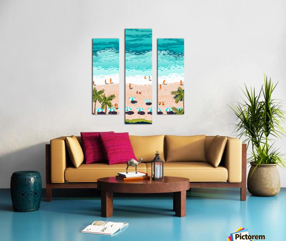 Dream in Colors Borrowed From The Sea Canvas print