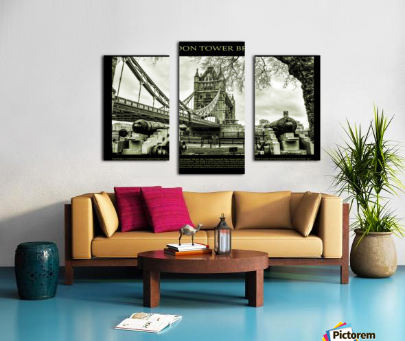 Vintage London Tower Bridge Canvas print
