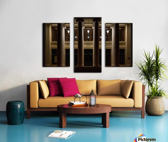 Night Pillars Canvas print