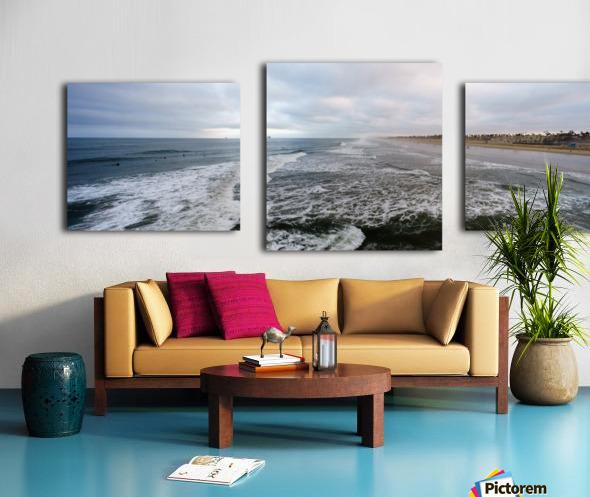 Huntington Beach Panorama Canvas print