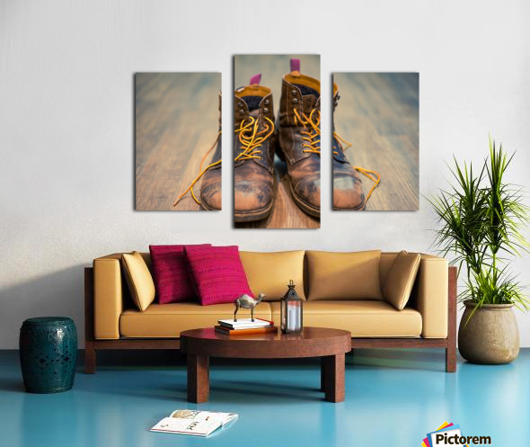 Worn Out Boots Canvas print
