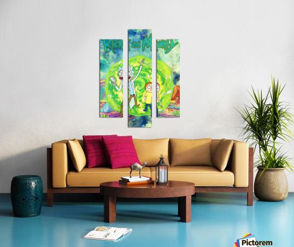 Rick and morty_  Canvas print