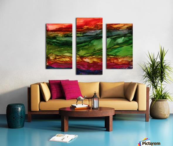 Kaleidoscope Canyon Canvas print