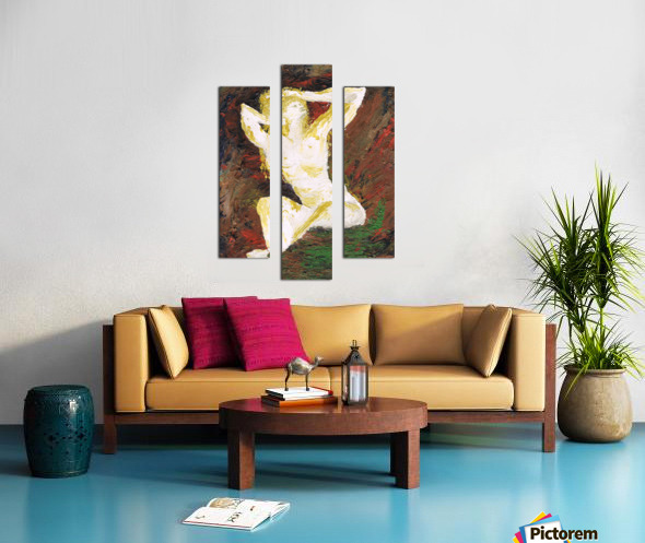 Helena_ oil painted with spatula Canvas print