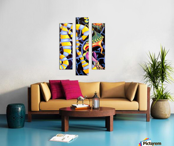 Watercolor Tropical Surrealism Orchids Painting Canvas print