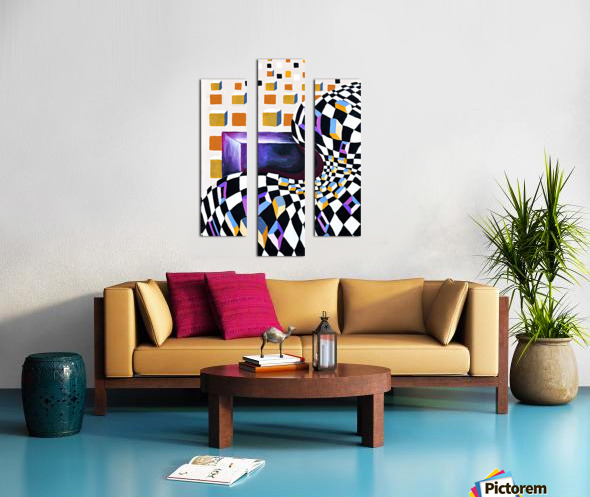 Retro Minimalism Abstract Chess Pattern Canvas print