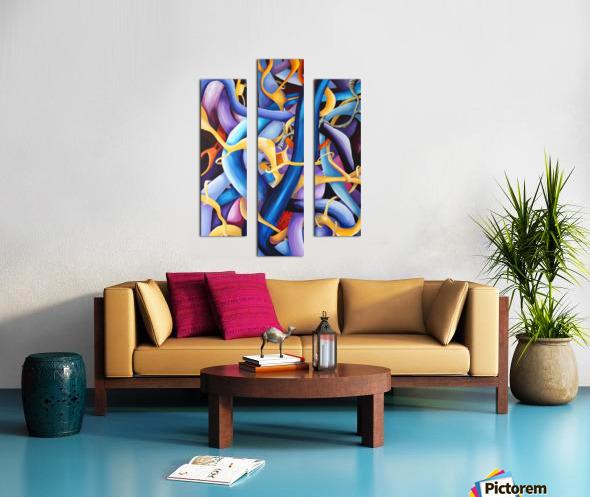 Interlacing Vivid Contemporary Abstract Canvas print