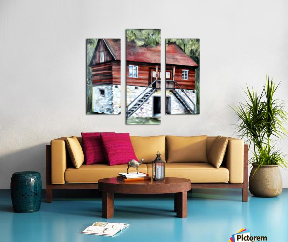 Romania Transylvania Historical Traditional House Canvas print