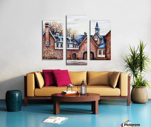 French Provenance Belgium Liege Canvas print