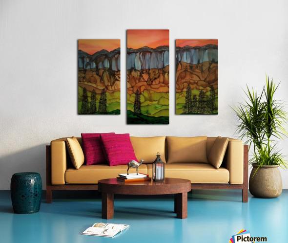 Weeping Cliffs Canvas print