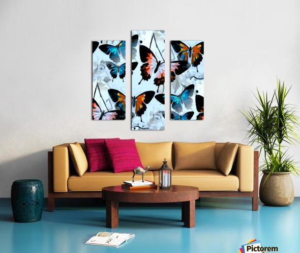 Seamless Butterflies Pattern  Canvas print