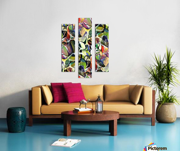 Linear Interlacing Expressionism Abstract Canvas print