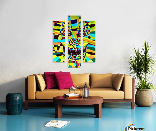 Watecolor Contermporary Pop Surrealism Clown  Canvas print
