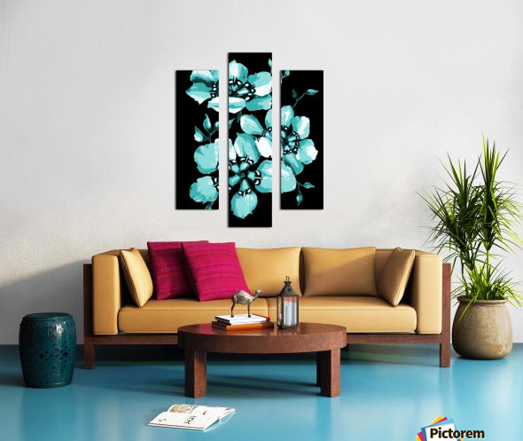 Harmonious Artdeco Floral Pattern  Canvas print