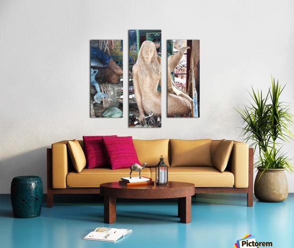 MermaidPondering Canvas print