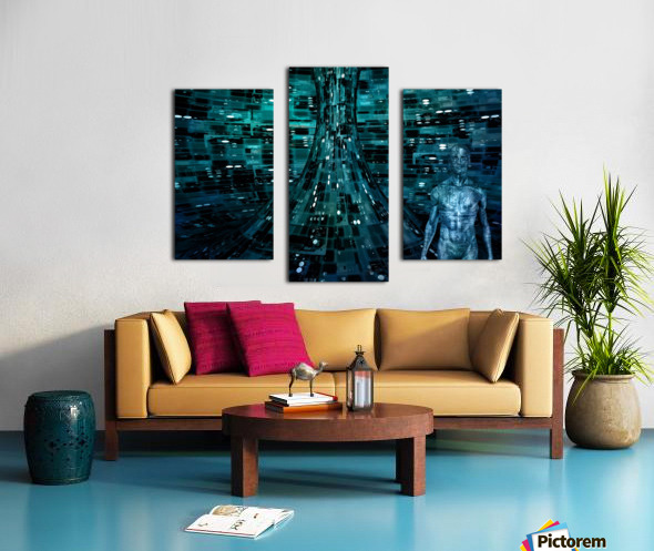 Cyborg Man Canvas print