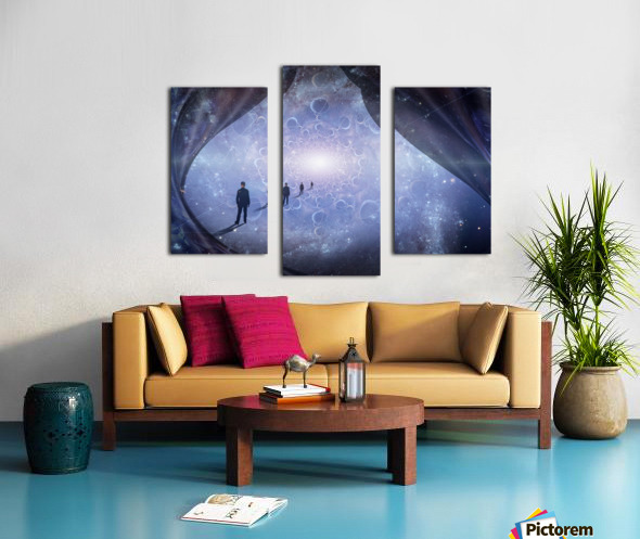 Man in Universe Canvas print